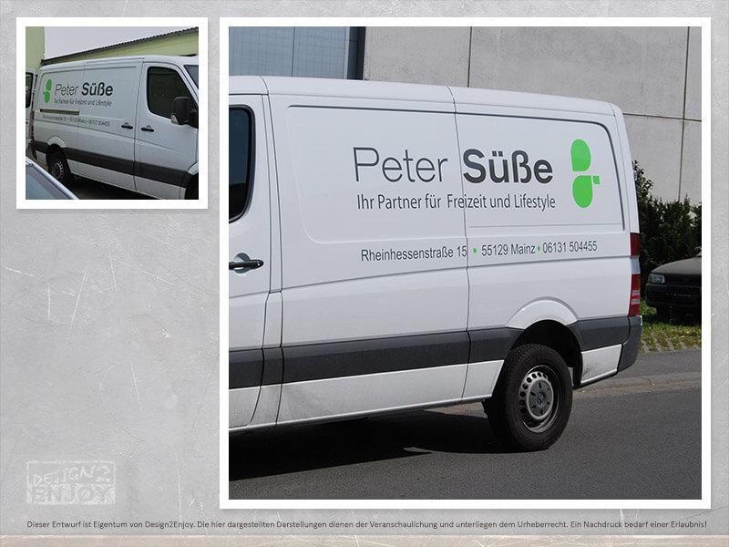 Fahrzeugbeschriftung Peter Süße Mainz » Design2Enjoy