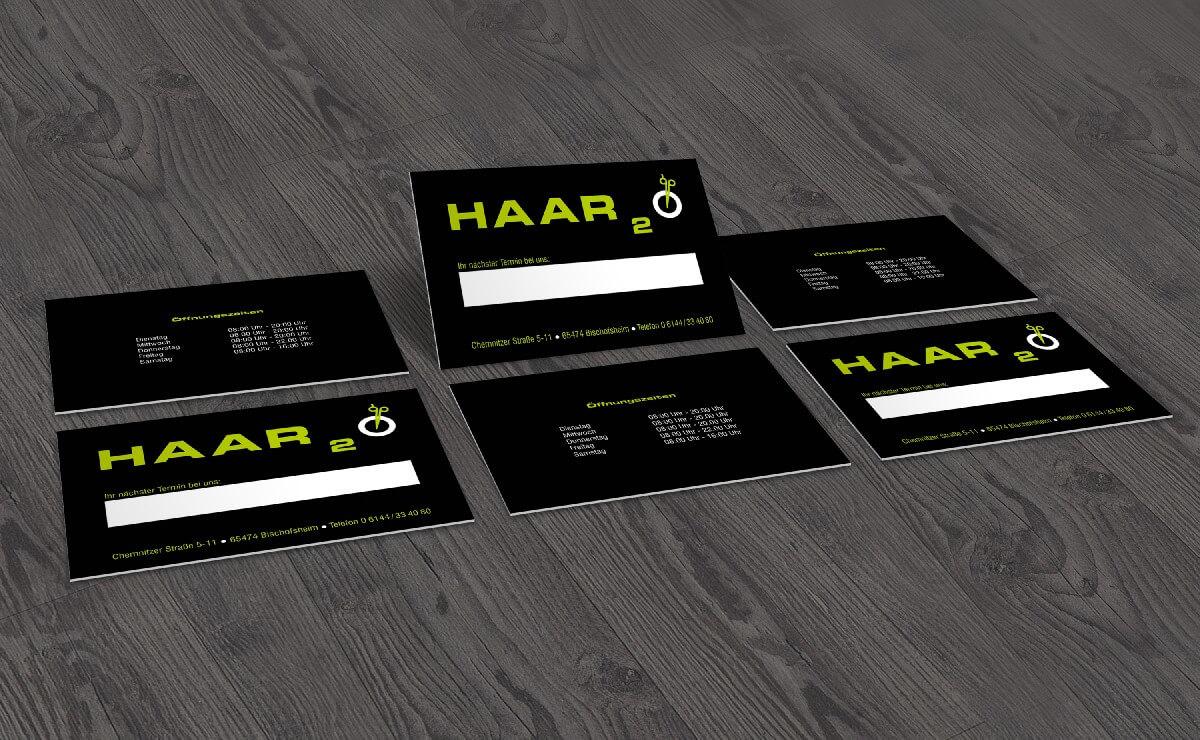 Friseur Haar2o Visitenkarten Design2enjoy