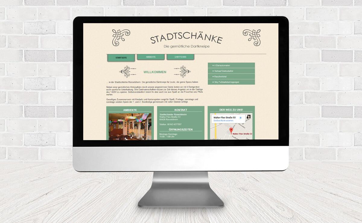 Website Stadtschänke Rüsselsheim » Design2Enjoy