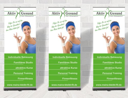 Roll-Up Fitnessstudio Aktiv & Gesund