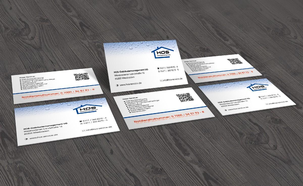 Visitenkarten Gebäudereinigung Design2enjoy