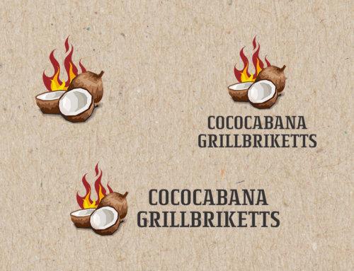 Cococabana Grillbriketts Logoentwicklung
