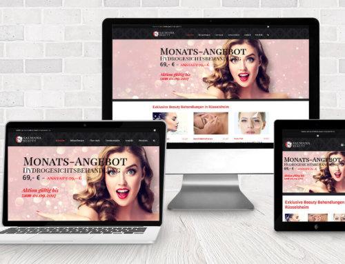 Homepage Salmana Beauty Rüsselsheim
