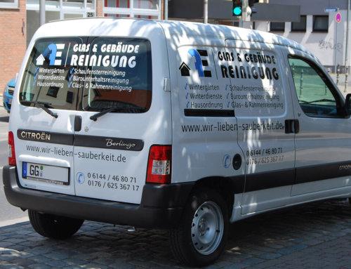 Festa Gebäudereinigung Fahrzeugbeschriftung