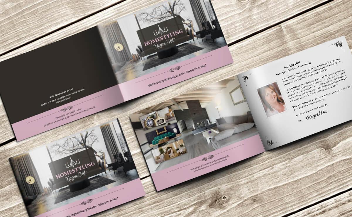 homestyling hot broschüre - Broschüre für Homestylerin