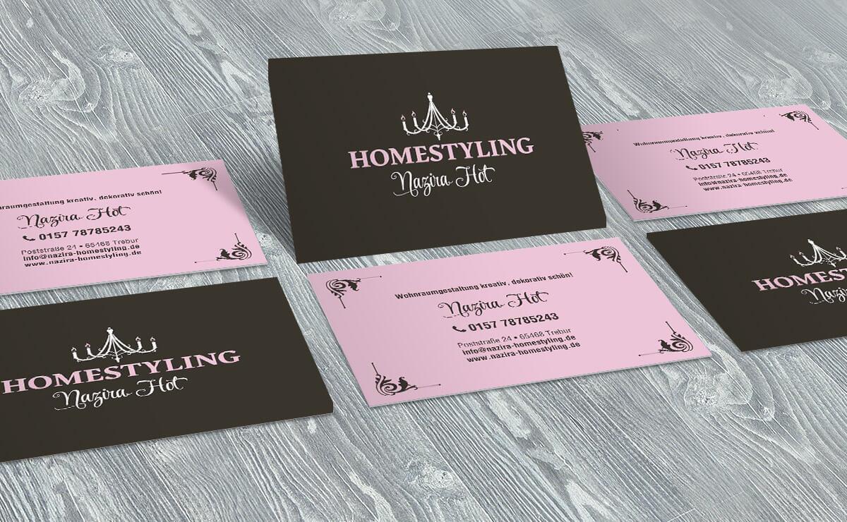 homestyling-hot-visitenkarten
