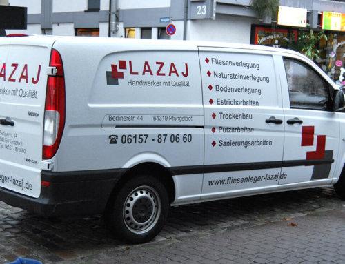 Lazaj – Handwerker Fahrzeugbeschriftung
