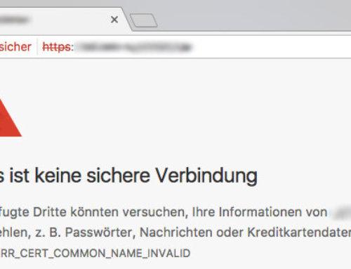 (Nicht) Sichere Webseiten