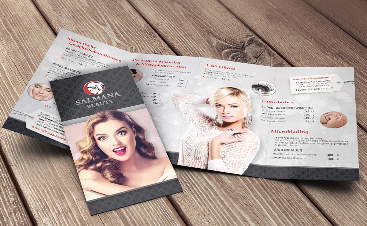 flyer – salmana beauty – kosmetikstudio