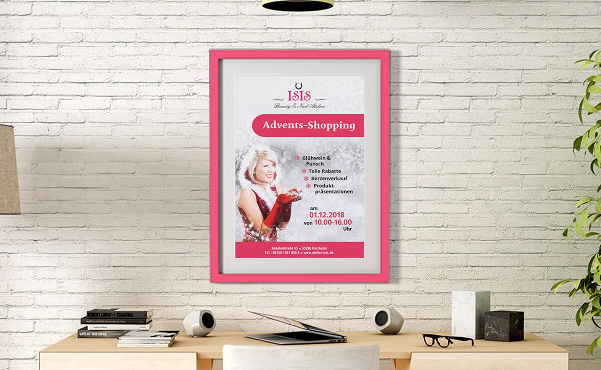 poster – adventsshopping – kosmetikstudio