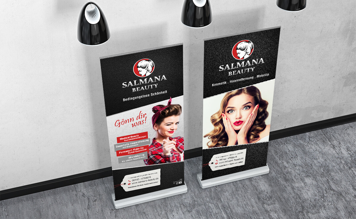 Roll-Up Display Beautysalon