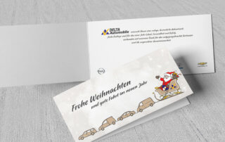 weihnachtskarten – delta automobile