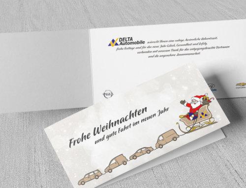 Weihnachtskarten Delta Automobile Mainz