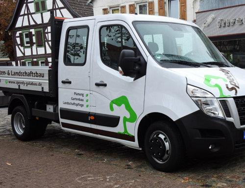 Fahrzeugbeschriftung Gartenbau Ginsheim