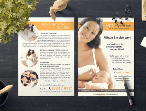 Schwangerschaft BH Infoflyer AH Dessous