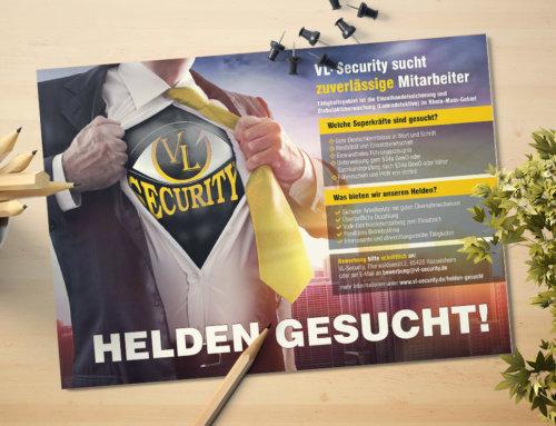 Flyer Mitarbeitersuche Security Rüsselsheim