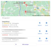 google my business eintrag – kartenansicht